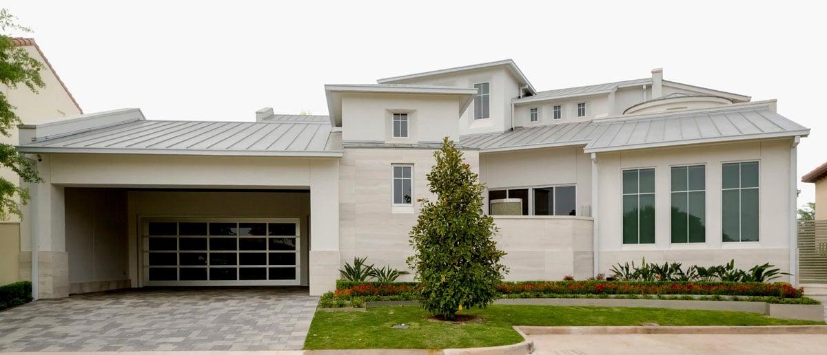 custom lake pointe contemporary luxury exterior