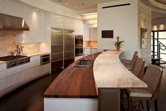 lakefront modern kitchen