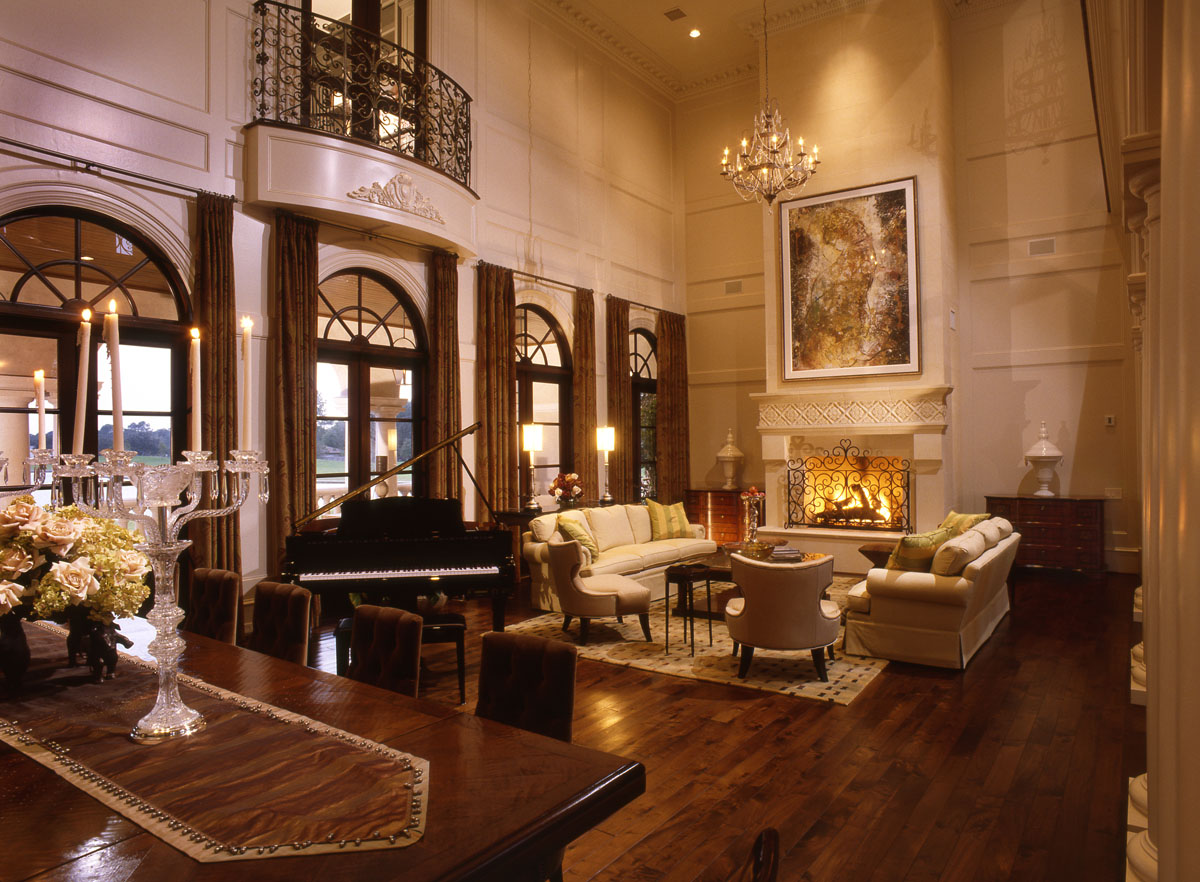 italianate mediterranean custom living room