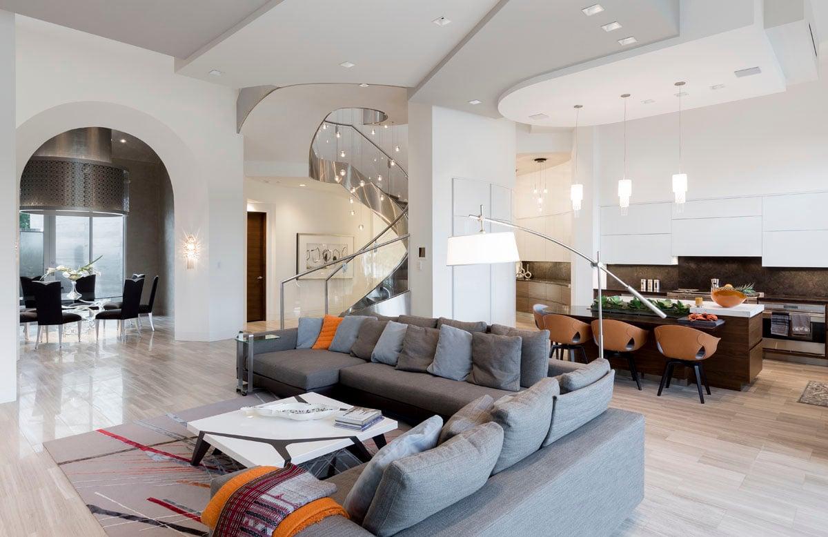 custom lake pointe contemporary living room