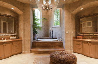 italianate mediterranean bathroom