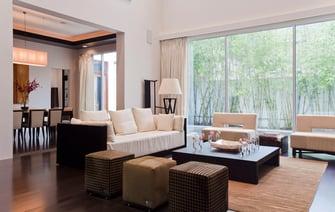 custom contemporary living room