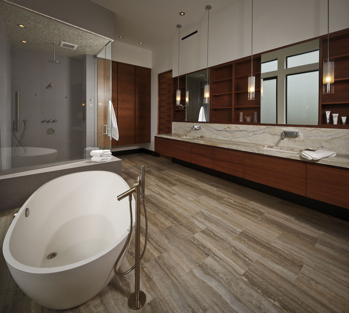 lakefront modern bathroom