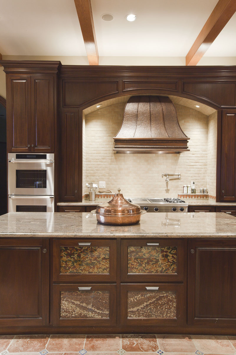 spanish mission kitchen and range hood