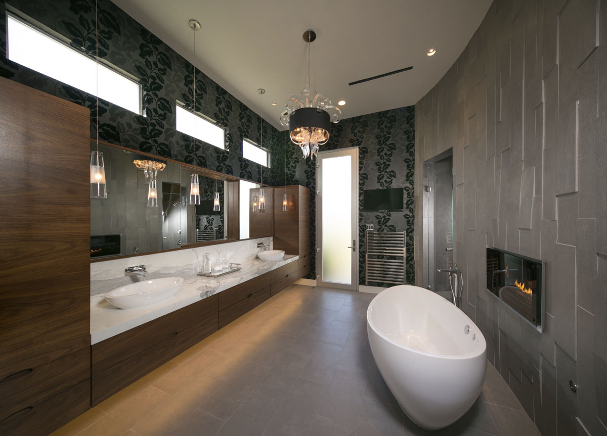 custom lake pointe contemporary luxury bathroom