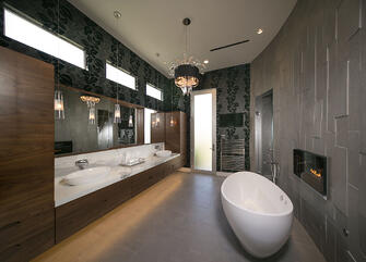 custom lake pointe contemporary luxury bathroom