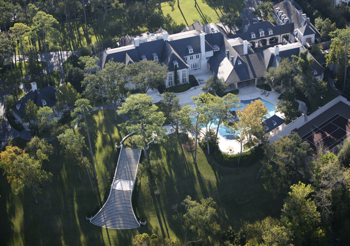 french chateau aerial view
