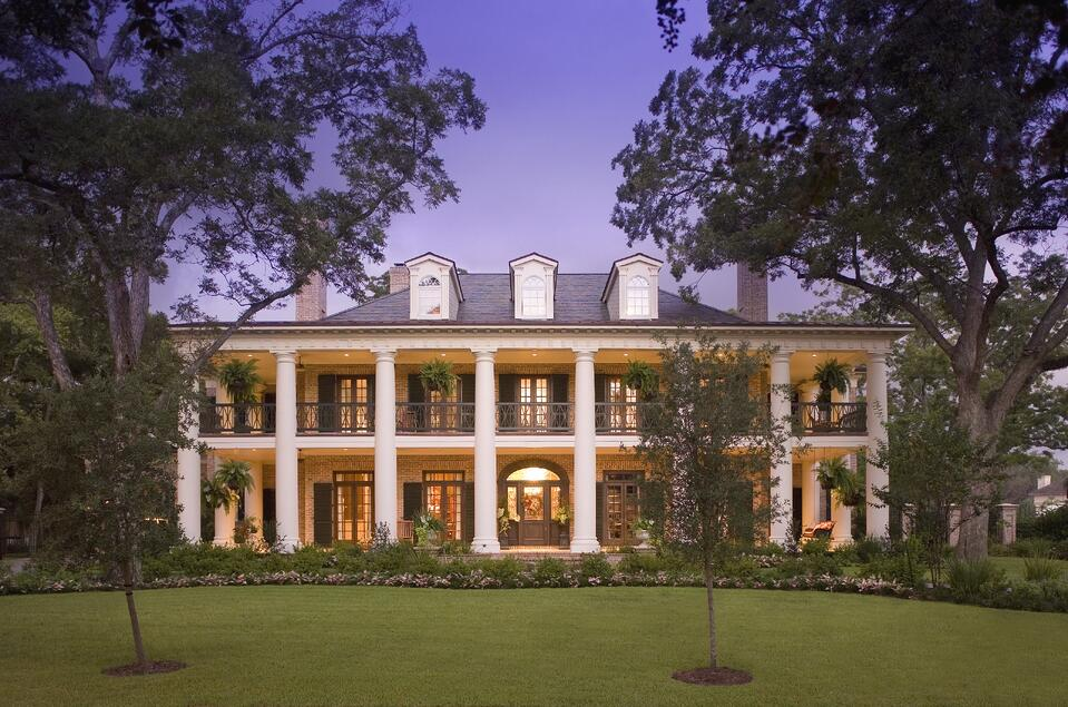 Greek Revival and Colonial style architecture home