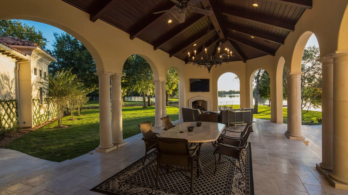 lakeside luxe outdoor patio