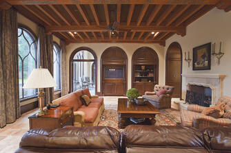 spanish mission cozy living room