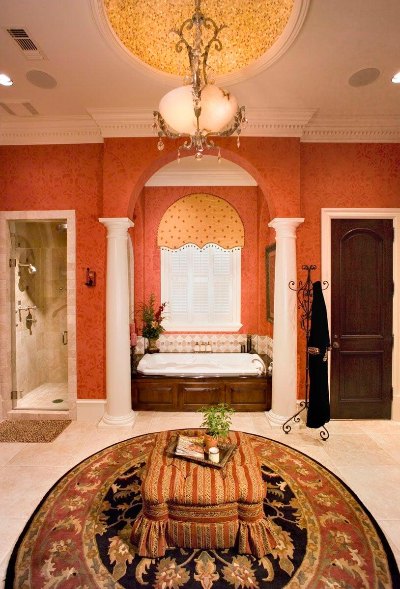 greek revival bathroom bathtub