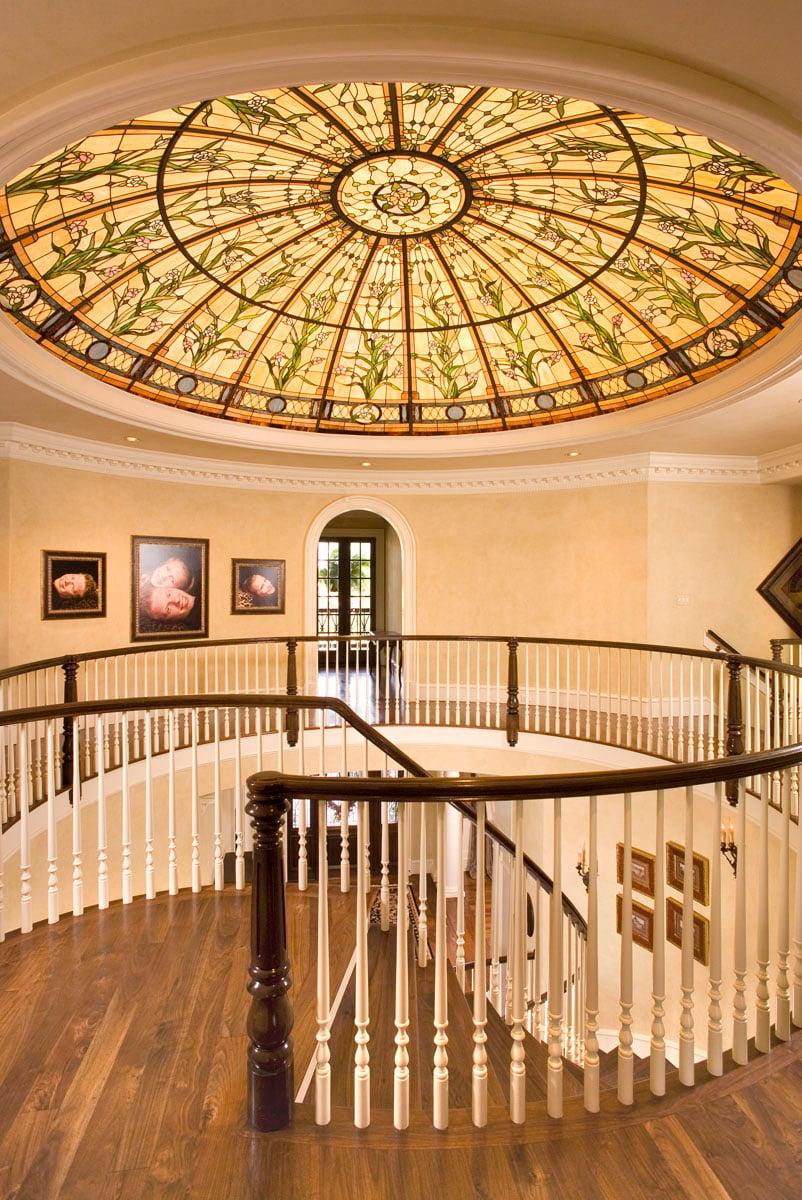greek revival staircase second floor
