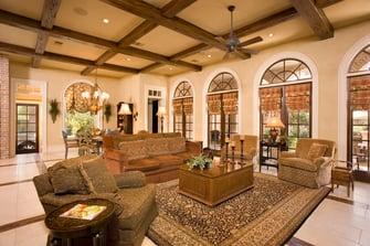 greek revival living room