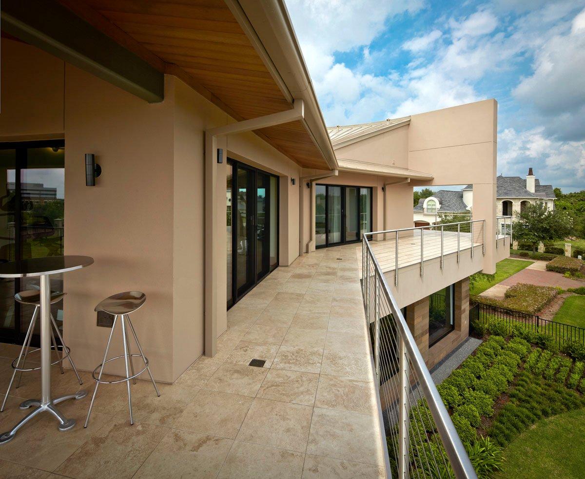 lakefront modern balcony