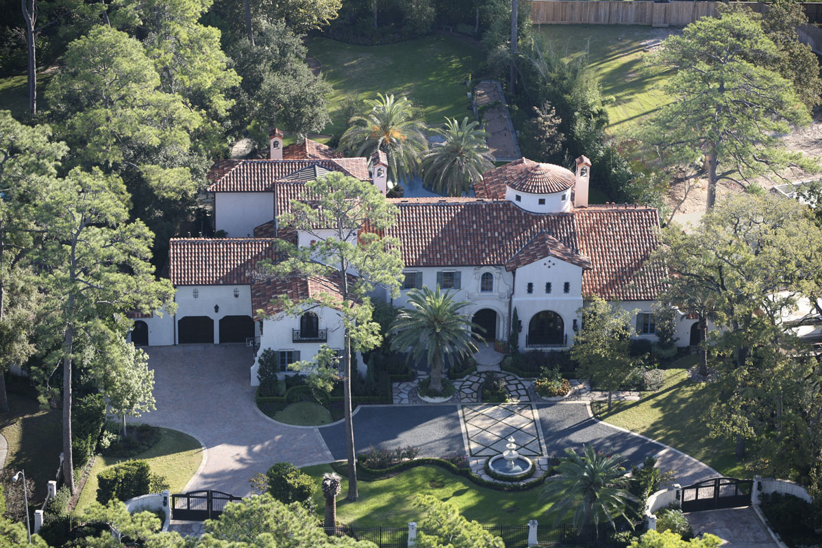 spanish colonial aerial view