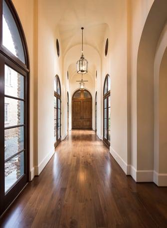 houston luxury home hallway