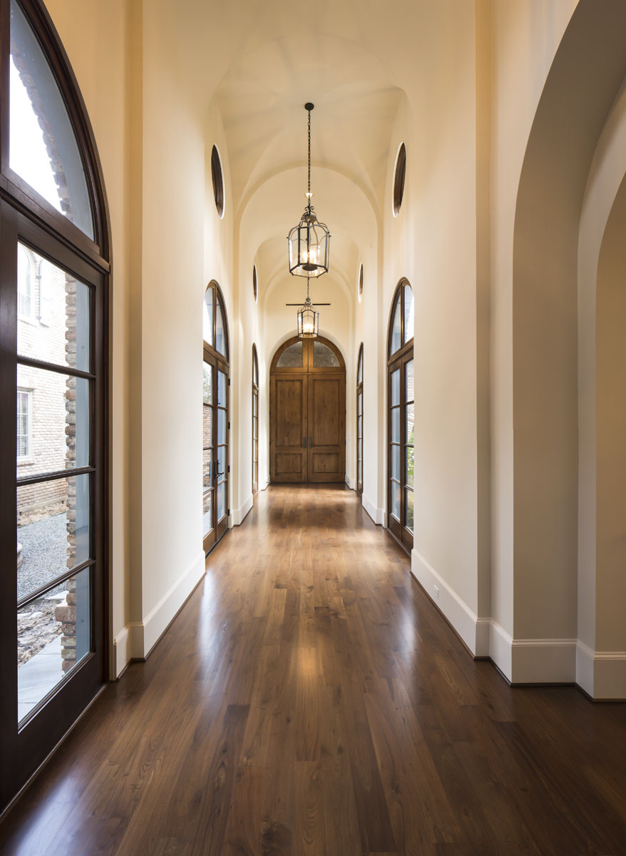 houston luxury home hallway