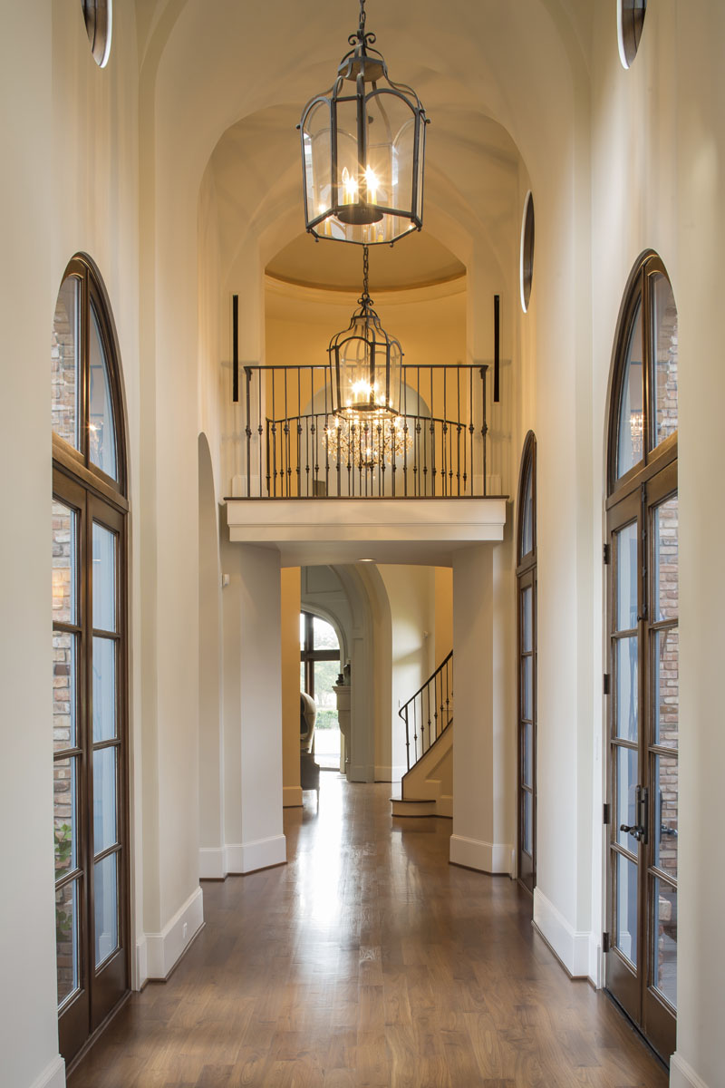 houston luxury home walkway interior