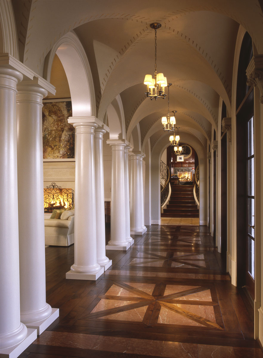 houston custom home builder hallway