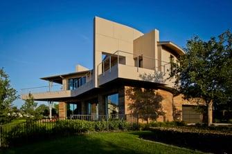 lakefront modern house