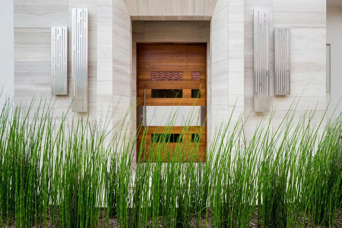 custom lake pointe contemporary exterior door