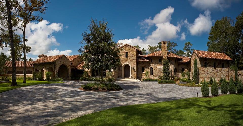 tuscan villa home architecture