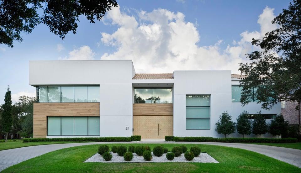 wood exterior home modern