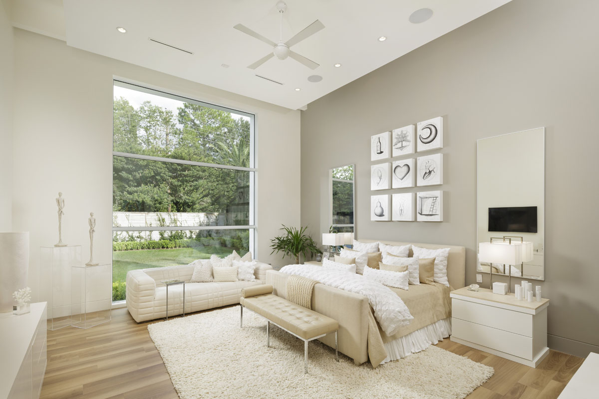 custom tanglewood modern master bedroom