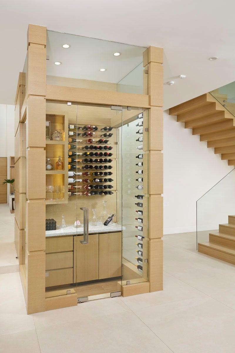 custom tanglewood modern wine room