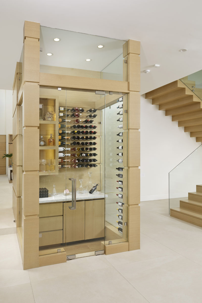 custom tanglewood modern wine room