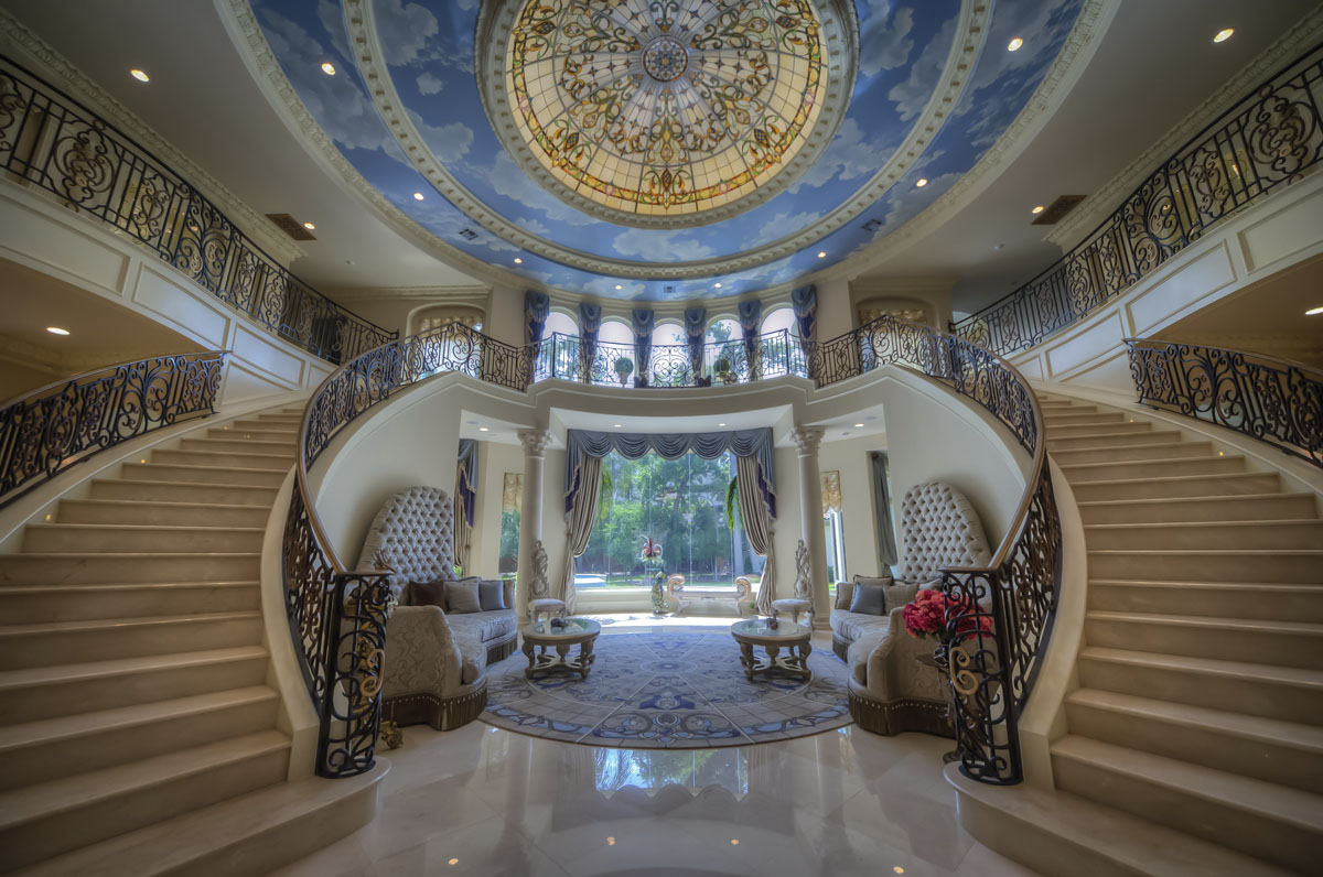 saddlebrook mediterranean grand entrance staircases