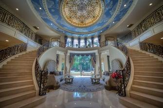 saddlebrook mediterranean grand entrance staircases