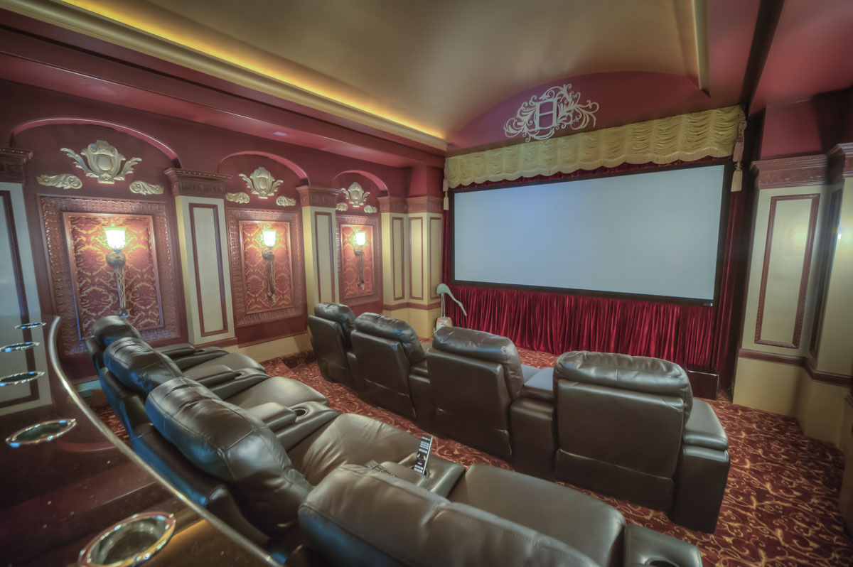 saddlebrook mediterranean home theater