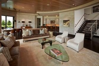 lakefront modern living room