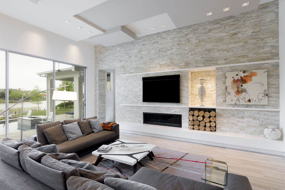 custom lake pointe contemporary living room houston