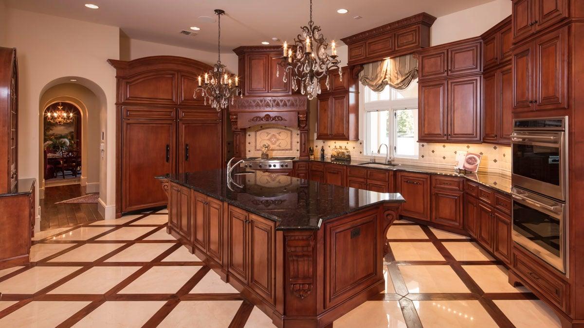 lakeside luxe kitchen detail