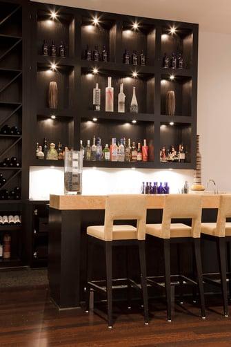 custom contemporary bar