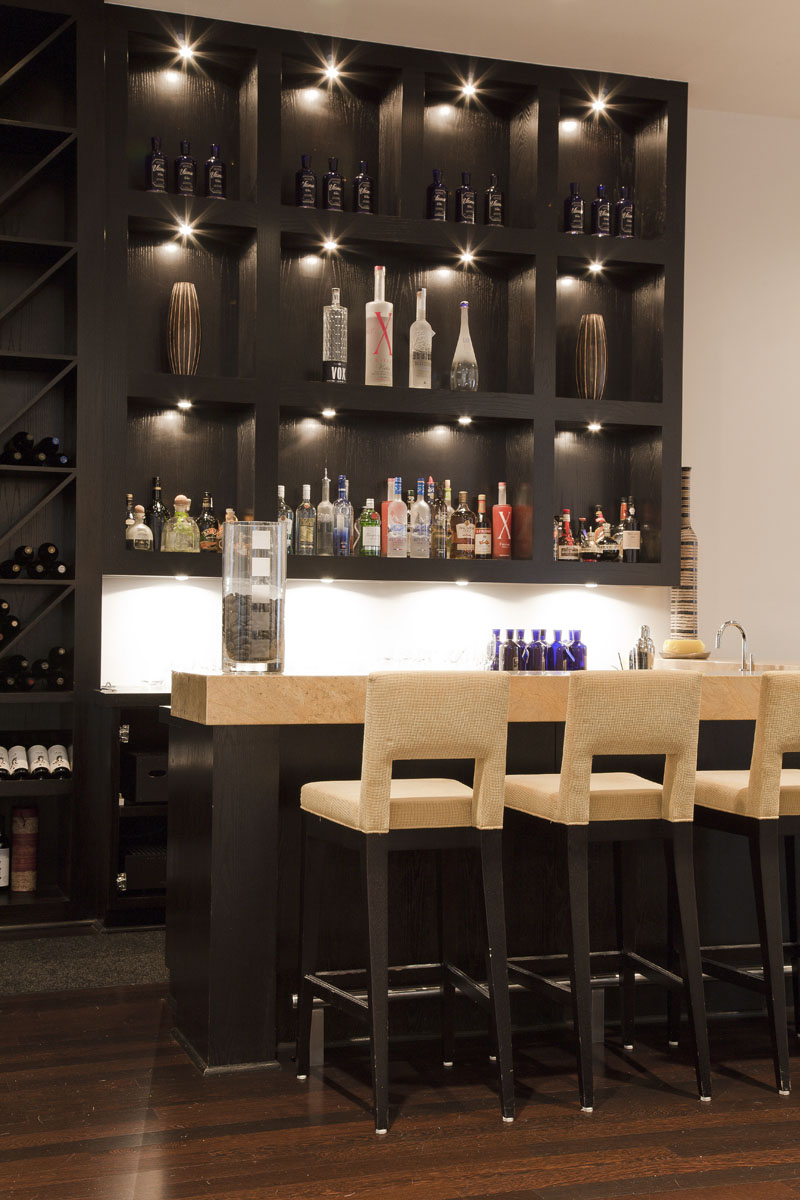 custom contemporary bar