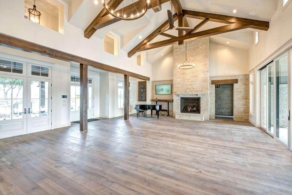 leed platinum living room ceiling