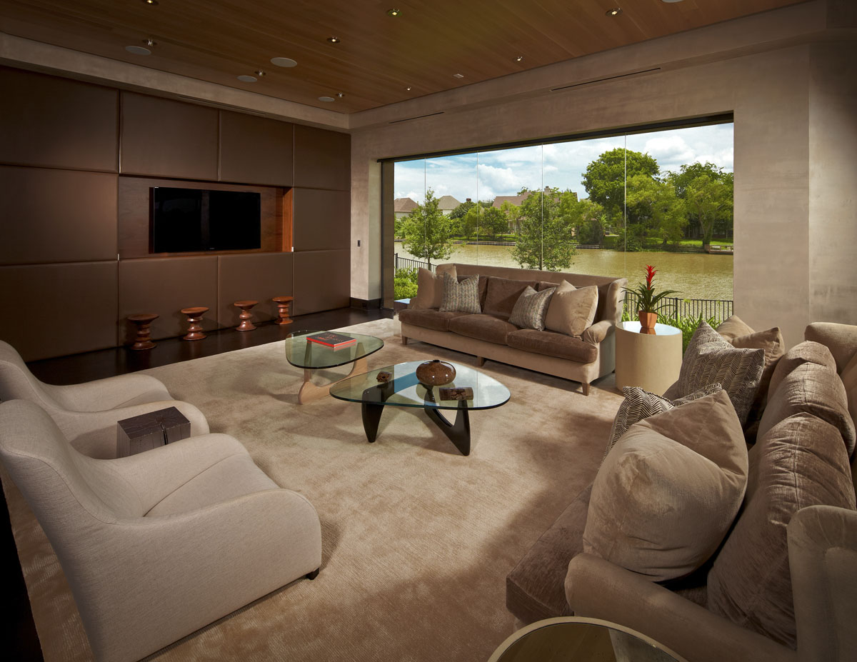 lakefront modern living room