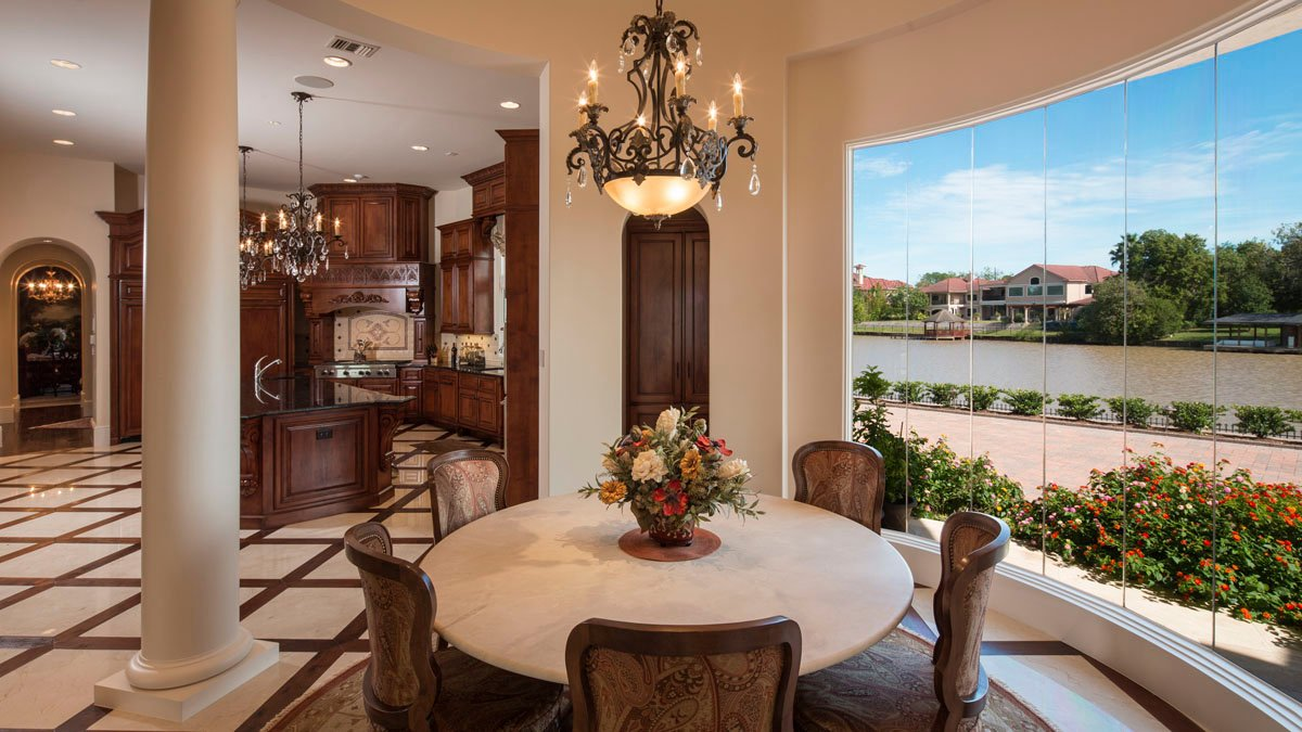 lakeside luxe dining room