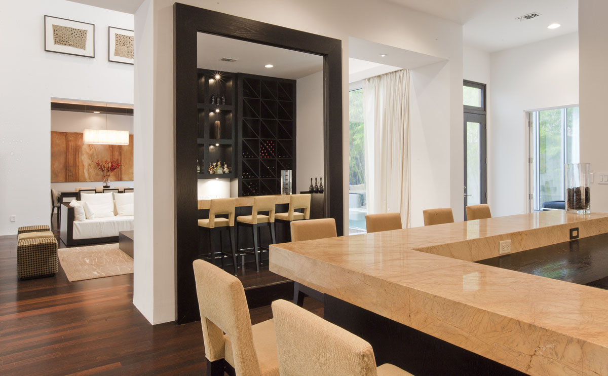 custom contemporary kitchen and bar