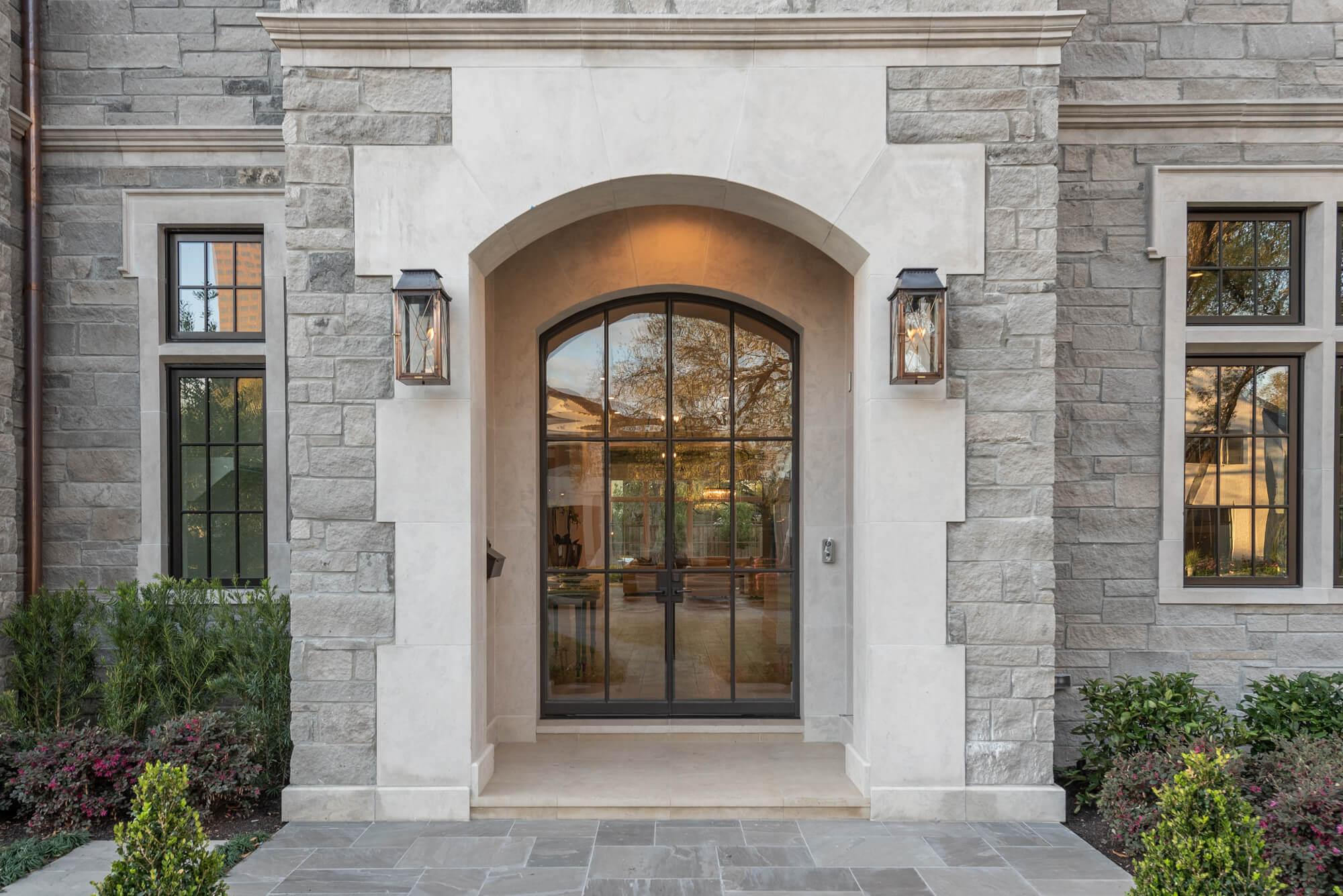 limestone front porch