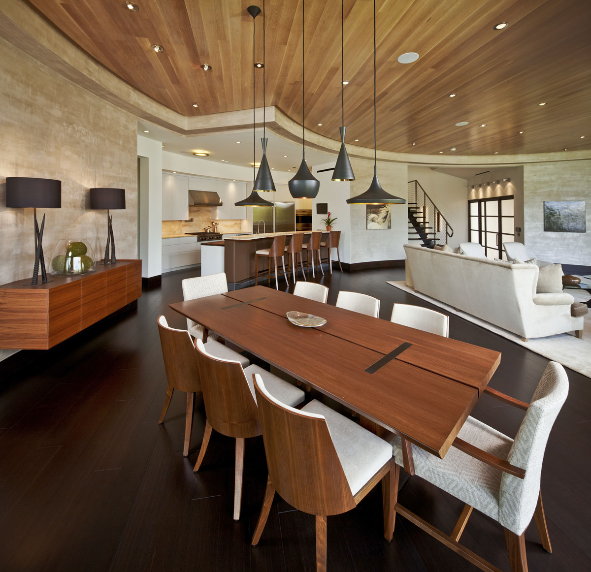 lakefront modern dining room