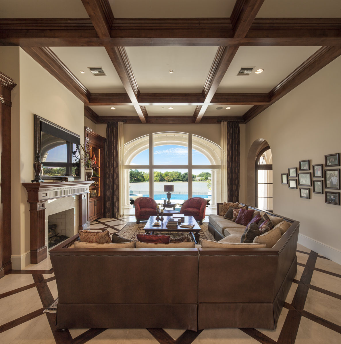 lakeside luxe living room