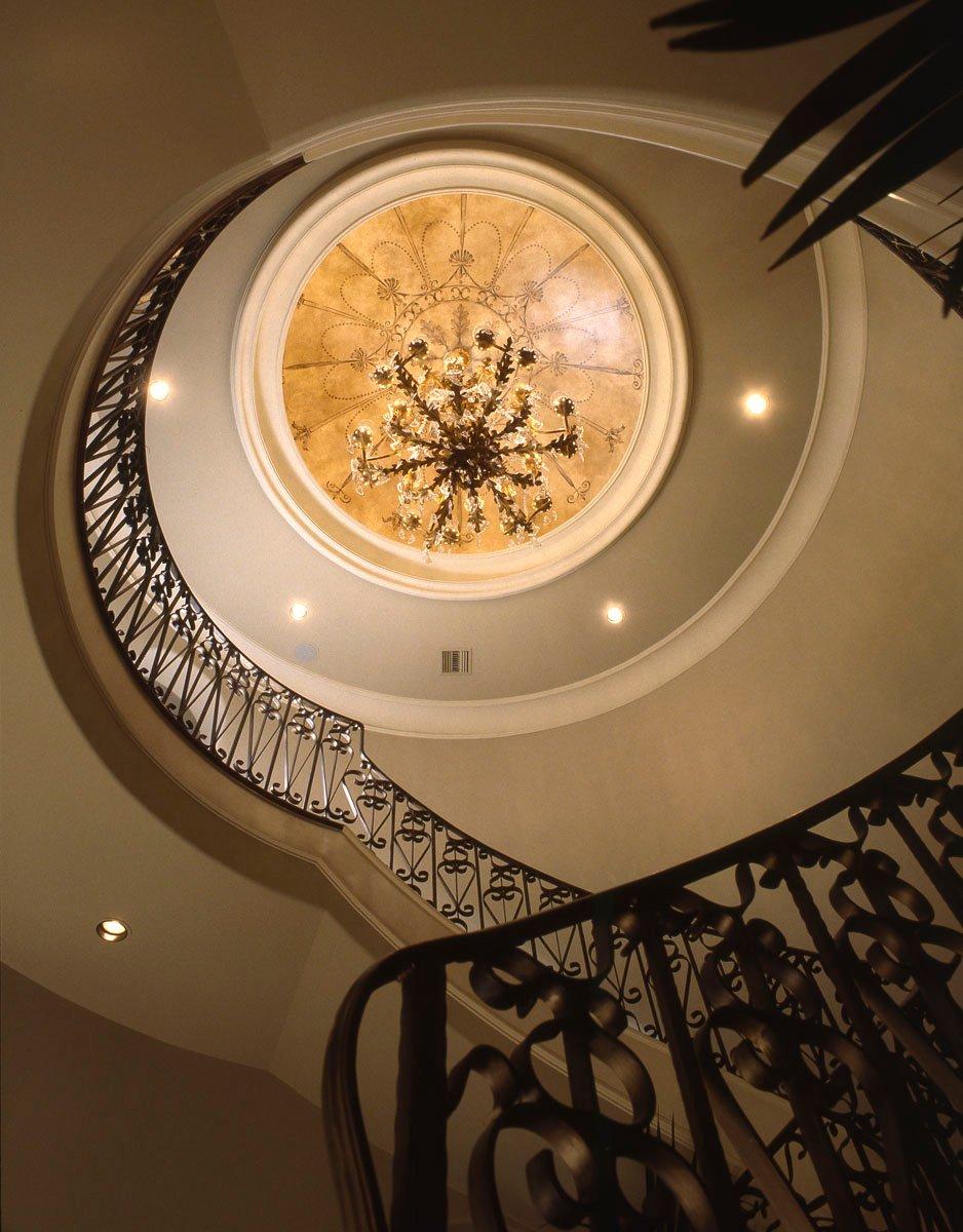 houston custom home builder hallway