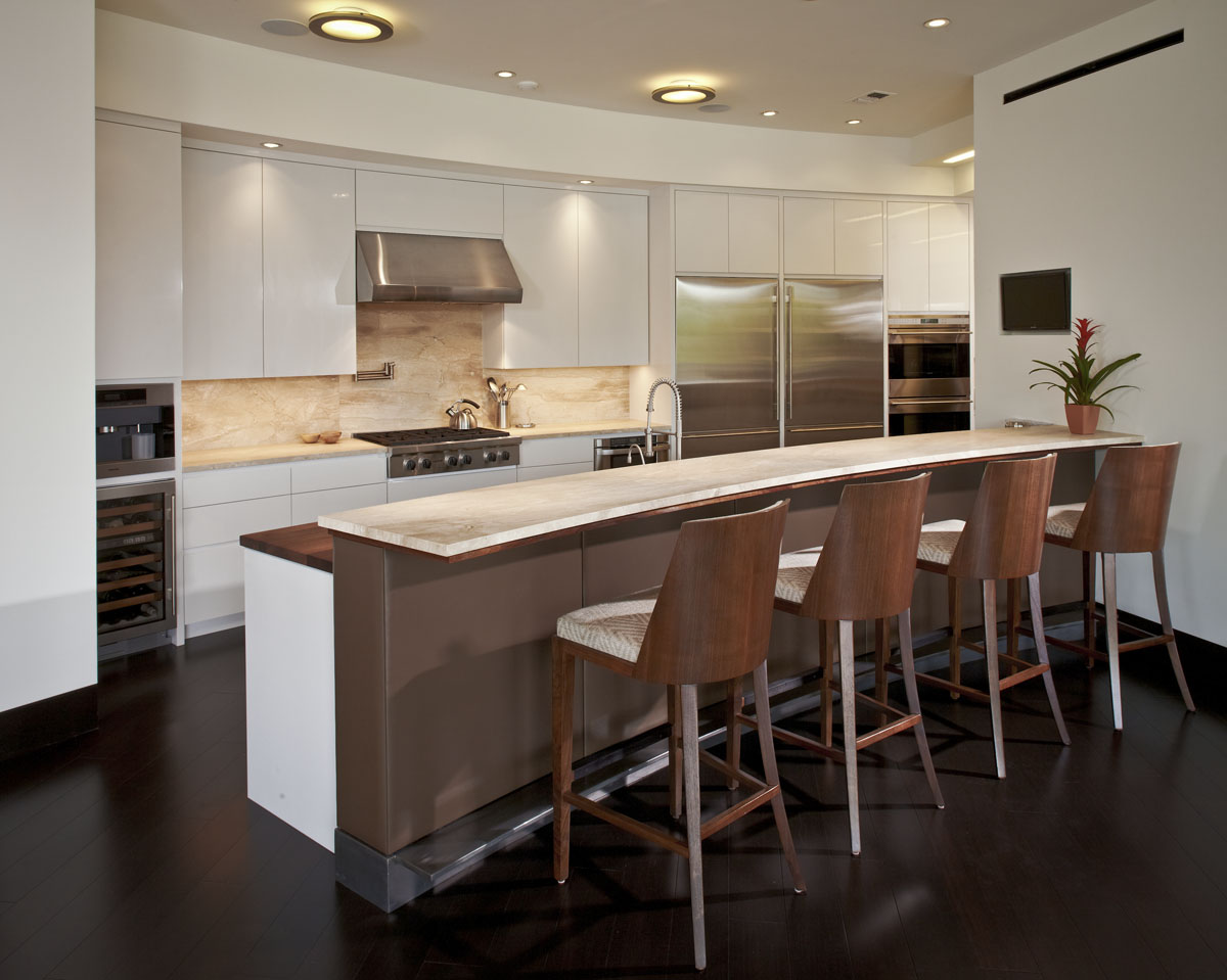 lakefront modern kitchen