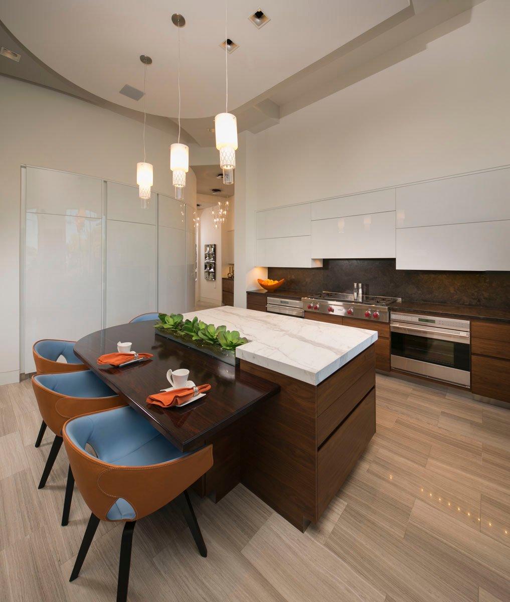 custom lake pointe contemporary luxury dining room houston
