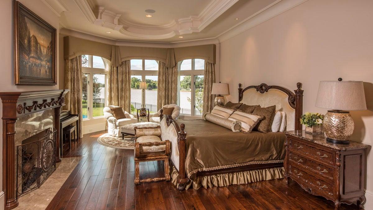 lakeside luxe bedroom