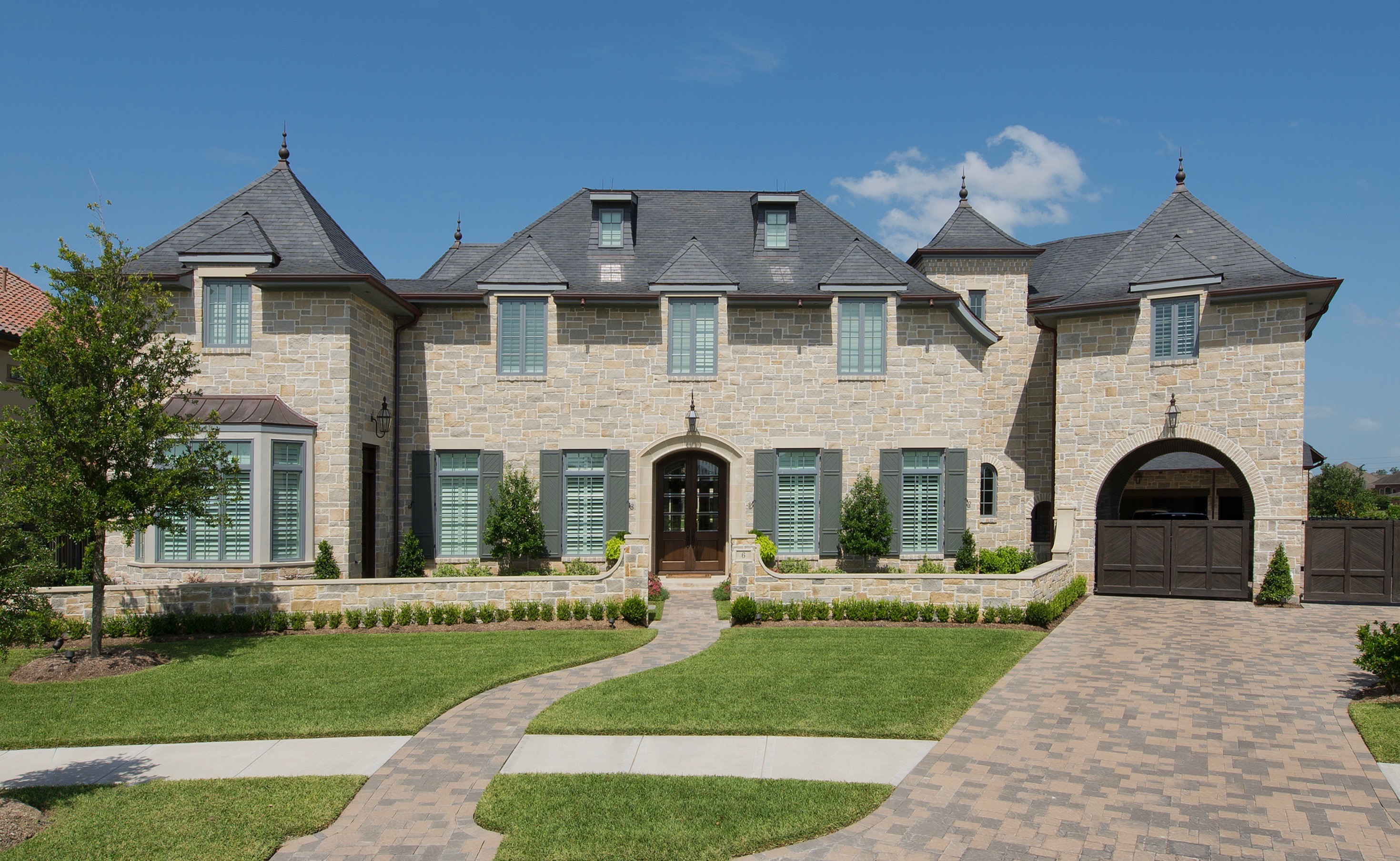French country home architecture